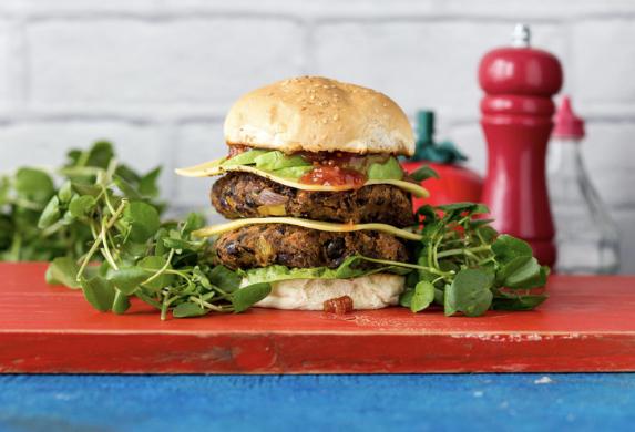 Watercress vegetarian burger