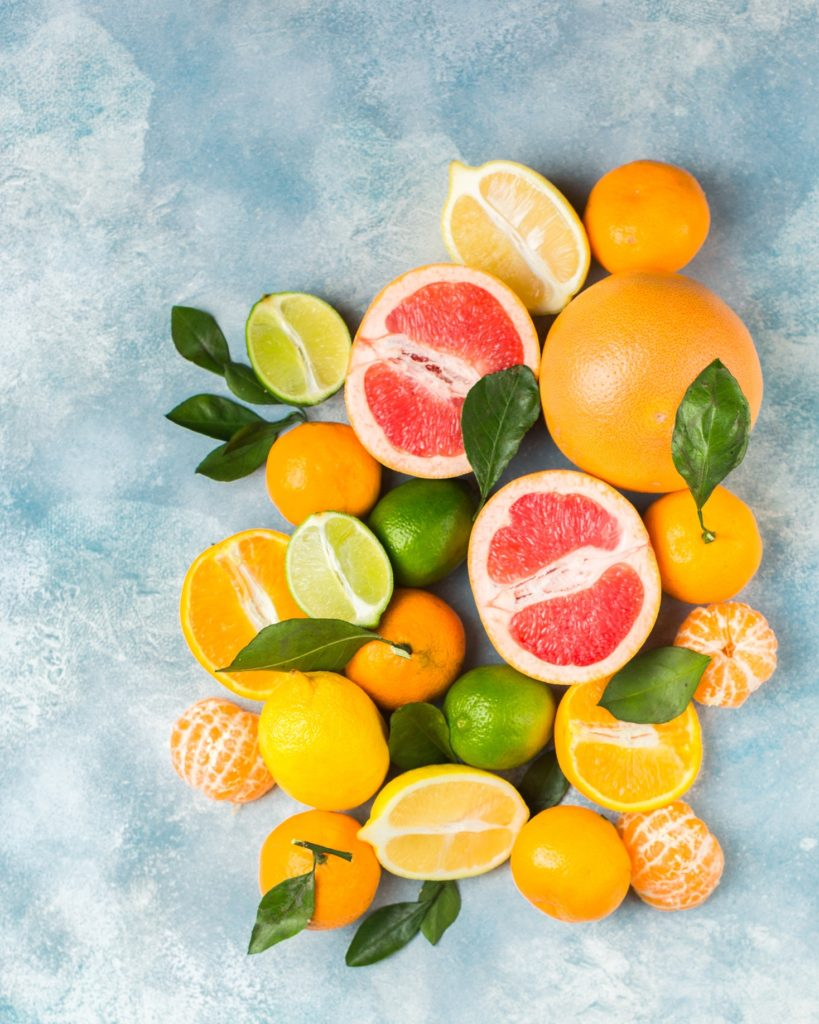 Brightly coloured citrus fruits - Vitamin C skincare